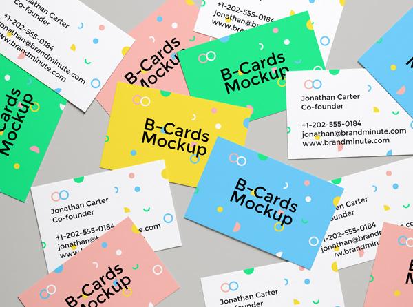 mockup de tarjetas de presentación
