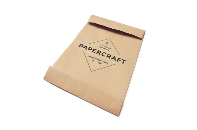 mockup de bolsa de papel